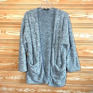 SHEIN gray Open Front Cardigan Soft & Cozy SZ L